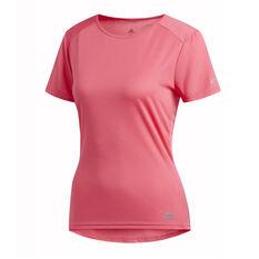 adidas Womens Run It Tee Pink XS, Pink, rebel_hi-res