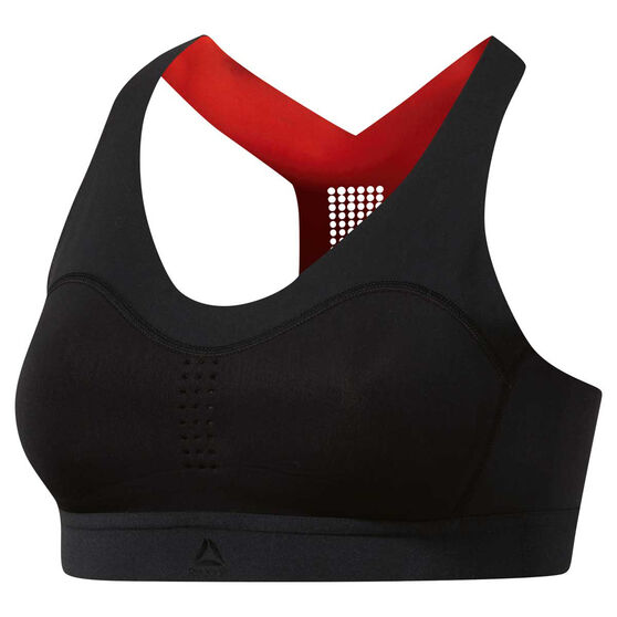 Reebok Womens PureMove Sports Bra, Black, rebel_hi-res
