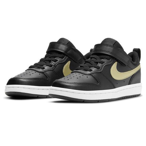 Nike Court Borough Low 2 Kids Casual Shoes, Black, rebel_hi-res