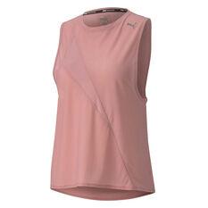 Puma Womens Mesh Training Tank Pink XS, Pink, rebel_hi-res