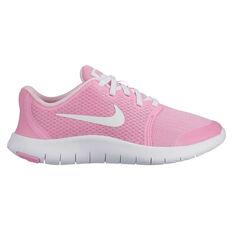 Nike Flex Contact 2 Kids Training Shoes Pink / White US 4, Pink / White, rebel_hi-res