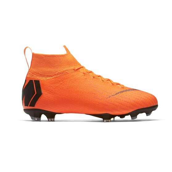 Nike Mercurial Superfly VI Elite Kids Football Boots Orange   White US 4  Junior cbb5d5bb5eb2