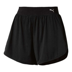 Puma Womens En Pointe Long Training Shorts Black XS, Black, rebel_hi-res