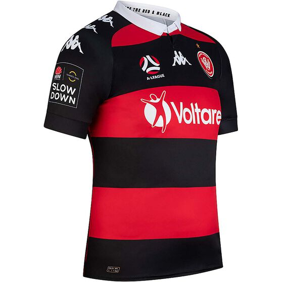 Western Sydney Wanderers 2020/21 Mens Home Jersey, Red / Black, rebel_hi-res