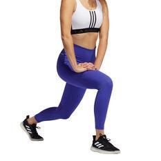adidas Womens Believe This Primeblue 7/8 Tights, Purple, rebel_hi-res
