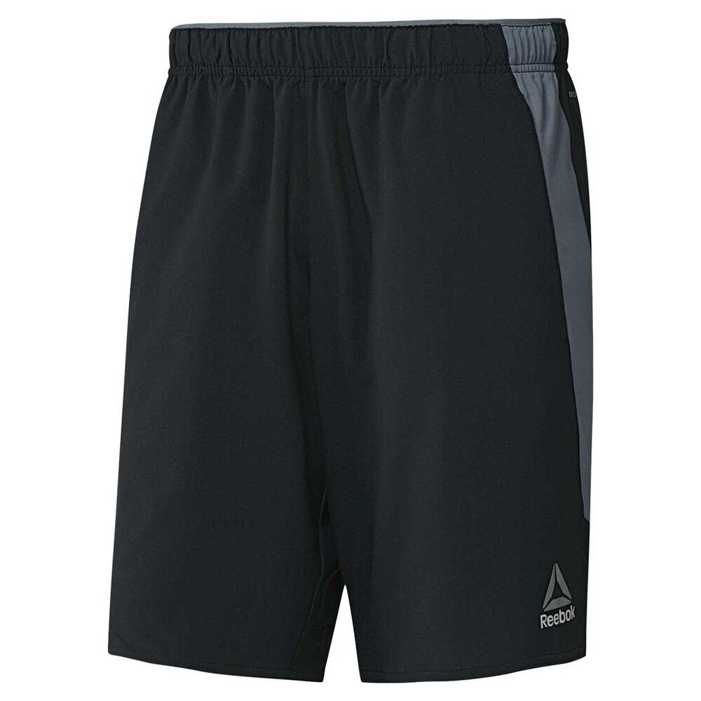 6336d81b572ca Reebok Mens Workout Ready Woven Training Shorts Black S Adult ...