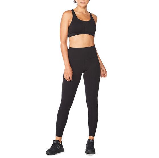 2XU Womens Fitness Hi Rise Compression Tights, Black, rebel_hi-res