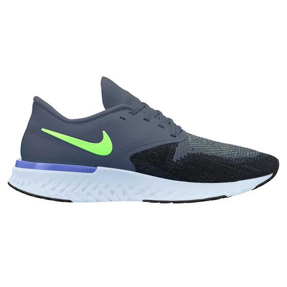 Nike Odyssey React 2 Mens Running Shoes, Blue / Black, rebel_hi-res