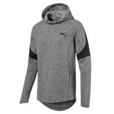 Puma Mens Evostripe Warm Hoodie Grey S, Grey, rebel_hi-res