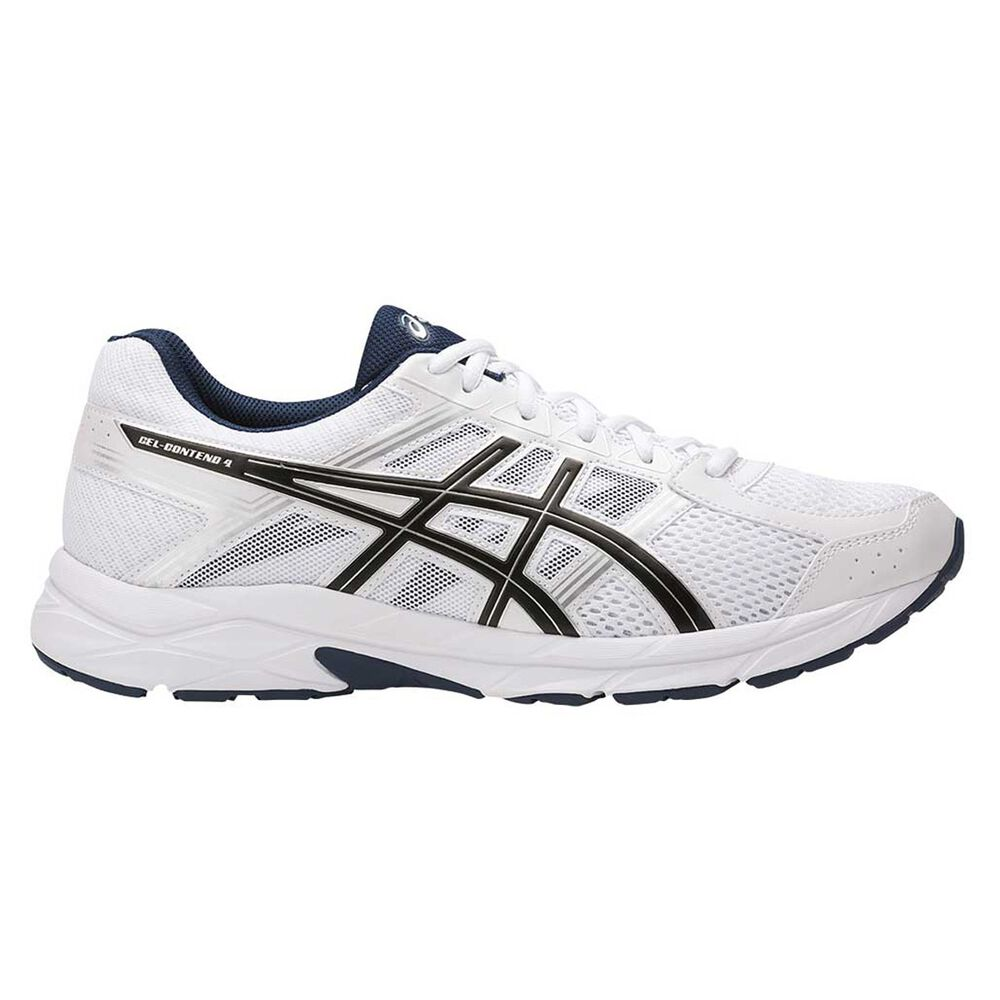 b136400ed6b1 Asics GEL Contend 4 Mens Running Shoes White   Black US 8