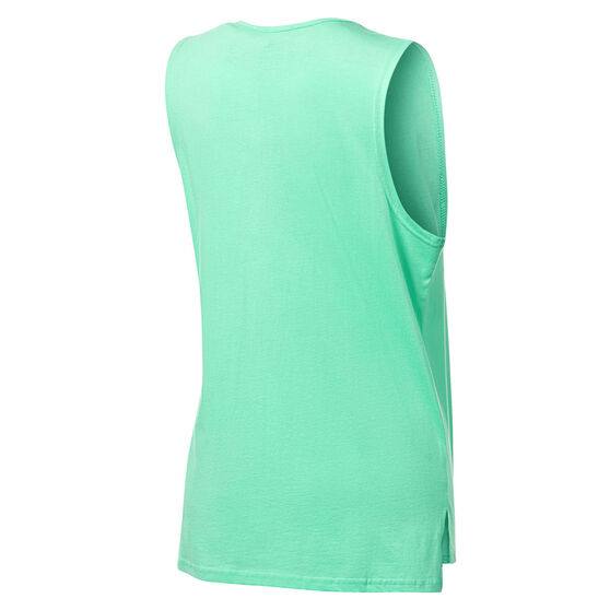 Running Bare Womens Easy Rider Muscle Tank, Green, rebel_hi-res