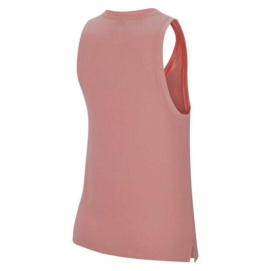 Nike Womens Yoga Henley Tank, Pink, rebel_hi-res