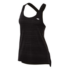 Running Bare Womens Cosmic Workout Tank Black 10, Black, rebel_hi-res