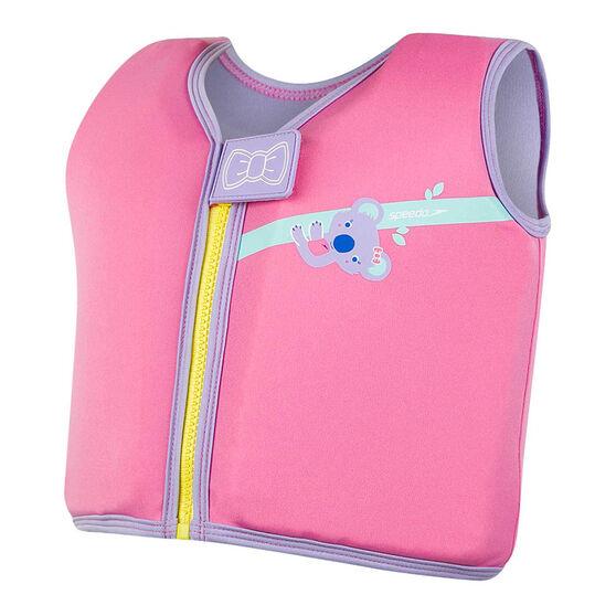 Speedo Infant Sea Squad Float Vest, Pink, rebel_hi-res