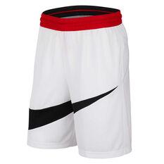 Nike Mens Dri-FIT HBR 2 Shorts White XS, White, rebel_hi-res