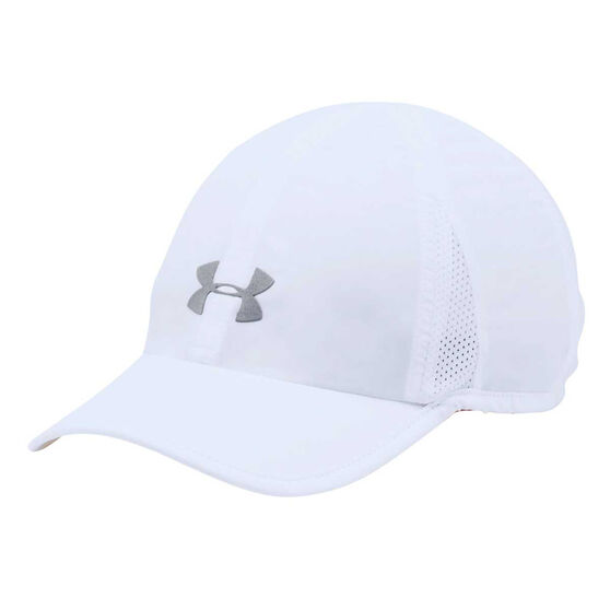Under Armour Womens Shadow 2.0 Running Cap White / Silver OSFA, , rebel_hi-res