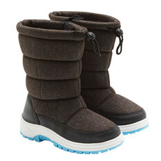 Tahwalhi Wizard Kids Snow Boots Grey 4, Grey, rebel_hi-res