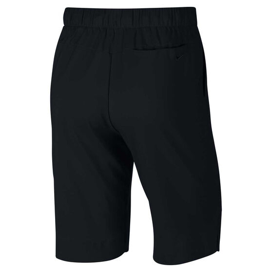"Nike Womens Dri-FIT 11"" UV Shorts, Black, rebel_hi-res"