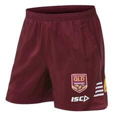 QLD Maroons State of Origin 2019 Mens Training Shorts Maroon S, Maroon, rebel_hi-res