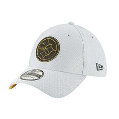 Pittsburgh Steelers New Era 39THIRTY Grey Training Cap, , rebel_hi-res