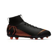 Nike Mercurial Superfly VI Club MG Kids Football Boots Black / Orange US 1 Junior, Black / Orange, rebel_hi-res