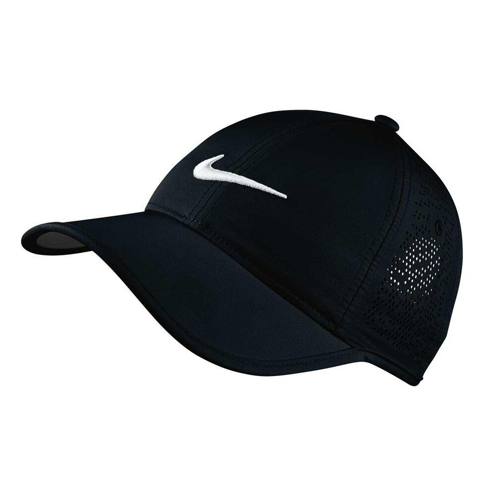 Nike Womens Perforated Golf Cap Black   White OSFA  023ce5fa5e