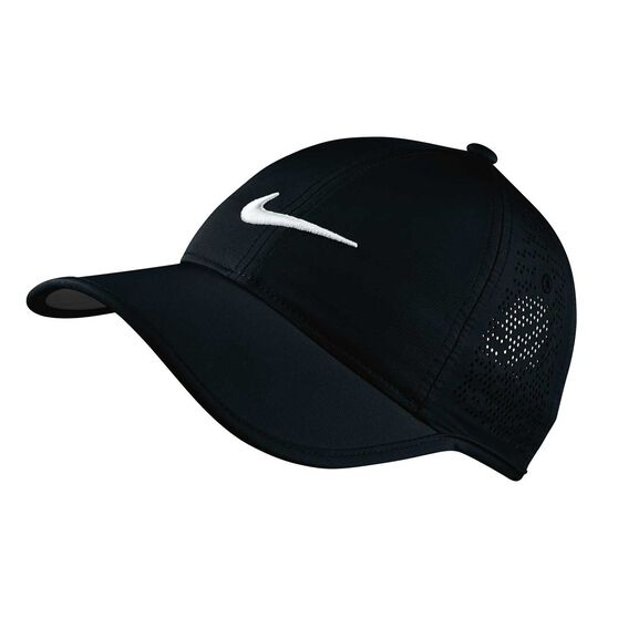 Nike Womens Perforated Golf Cap Black   White OSFA  ab90dc36a9f