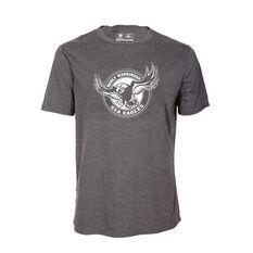 Manly Warringah Sea Eagles Mens Tee Dark Grey S, Dark Grey, rebel_hi-res