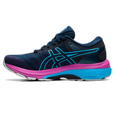 Asics GEL Kayano 27 Kids Running Shoes Navy/Purple US 1, Navy/Purple, rebel_hi-res