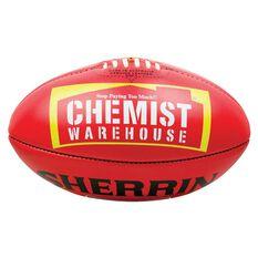Sherrin Official AFLW Australian Rules Game Ball Red 4, , rebel_hi-res