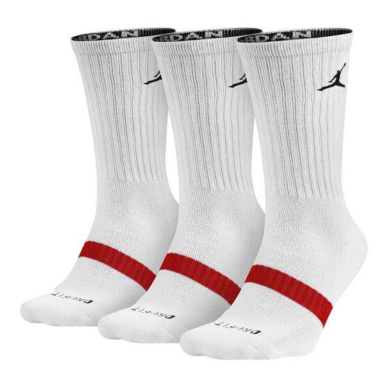6a7dbb20d0e4 Nike Jordan Drift 3 Pack Crew Socks White XL