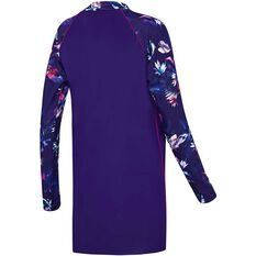 Speedo Womens Swim Tunic Purple 8, Purple, rebel_hi-res