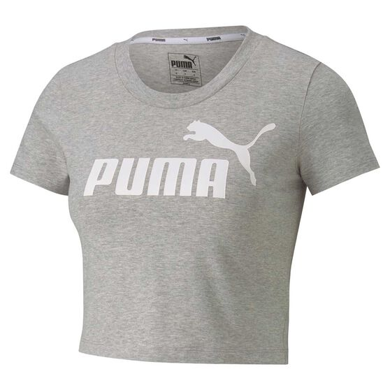 Puma Womens Essential Fitted Tee, Grey, rebel_hi-res