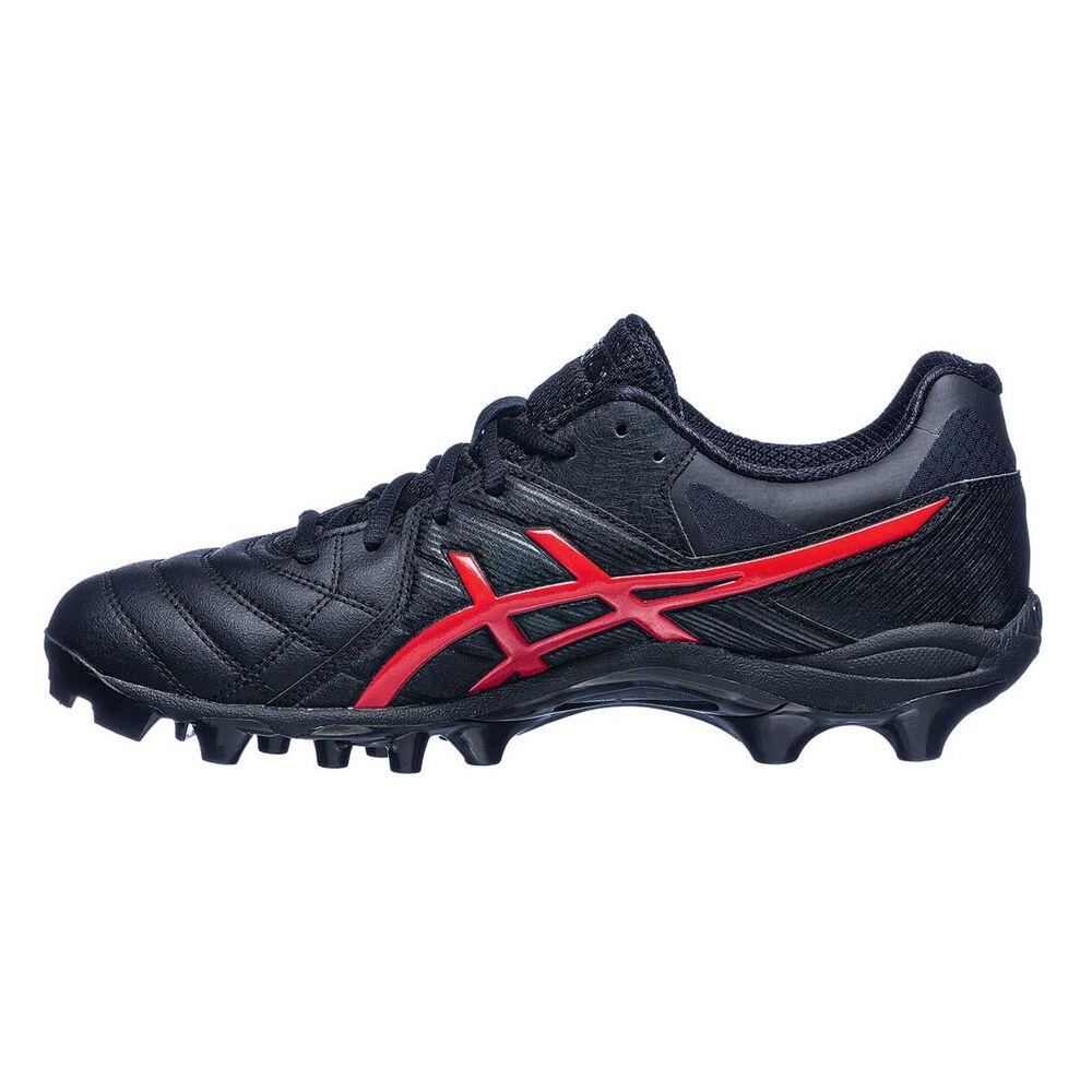 2d4fdabba6f4 Asics GEL Lethal 18 Mens Football Boots Black   Red US 8 Adult ...