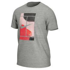 NikeCourt Mens Tennis Tee Grey S, Grey, rebel_hi-res