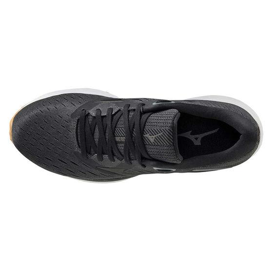 Mizuno Wave Rider 24 Womens Running Shoes Black/Gum US 10, Black/Gum, rebel_hi-res