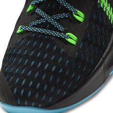 Nike LeBron Witness V Kids Basketball Shoes, Black, rebel_hi-res