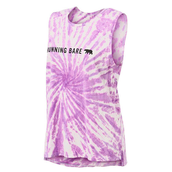 Running Bare Womens Easy Rider Muscle Tank, Purple, rebel_hi-res