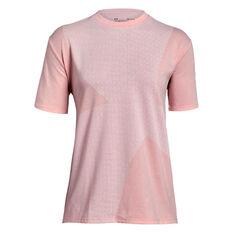 Under Armour Womens Girlfriend Crew Logo Tee Pink XS, Pink, rebel_hi-res
