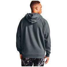 Under Armour Mens Volume Fleece Rival Cotton Hoodie, Grey, rebel_hi-res