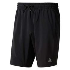 Reebok Mens WOR Woven Shorts Black XS, Black, rebel_hi-res