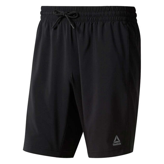 Reebok Mens WOR Woven Shorts, Black, rebel_hi-res
