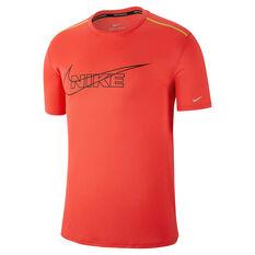 Nike Mens Breathe Running Tee Red S, Red, rebel_hi-res