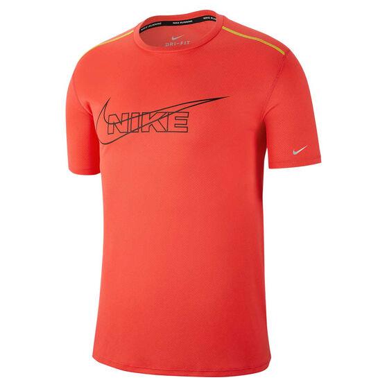 Nike Mens Breathe Running Tee, Red, rebel_hi-res