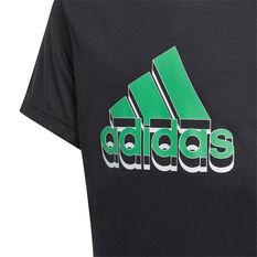 Adidas Boys Aeroready Prime Tee, Black, rebel_hi-res