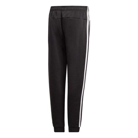 adidas Boys Essentials 3 Stripes Pants, Black / White, rebel_hi-res