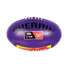Sherrin AFLW PVC Replica Game Ball Purple 4, , rebel_hi-res