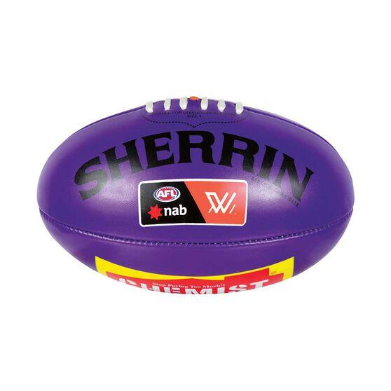Sherrin AFLW PVC Replica Game Ball Purple 4, , rebel_hi-res