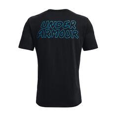 Under Armour Mens UA Multi Logo Scribble Tee, Black, rebel_hi-res