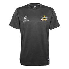 North Queensland Cowboys 2021 Mens Performance Tee Black S, Black, rebel_hi-res